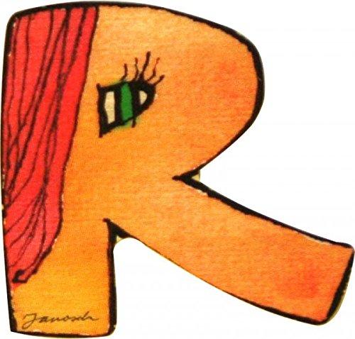Janosch Holzbuchstabe R farblich sortiert