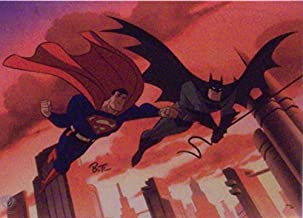 Batman and Superman, The Animated Series - World`s Finest DC Comics - Matted to 8 x 10 Inches.
