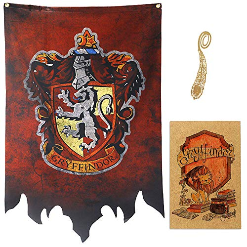 birthday decor for harry flag potter Banner - Gryffindor Slytherin Hufflepuff Ravenclaw House Flags Collection