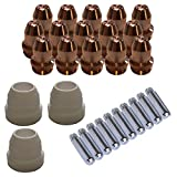 Lotos LCS33 Plasma Cutter Consumables Sets for Brown Color LT5000D and Brown Color CT520D ...