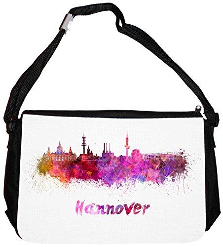 Merchandise for Fans schoudertas - 38 x 28 x 8 cm, 8,5 liter, zwart motief: silhouette Hannover - 13