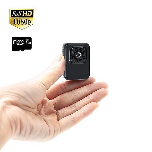 Caméra Espion Cachée 8GB TANGMI 1080P HD Sports Cam Détection de Mouvement Caméscope de Sécurité Portable Mini Enregistreur Vidéo Enregistrement et Chargement Simultanés