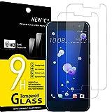 NEW'C 2 Stück, Schutzfolie Panzerglas für HTC U11, Frei von Kratzern, 9H Festigkeit, HD Bildschirmschutzfolie, 0.33mm Ultra-klar, Ultrawiderstandsfähig