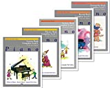 Alfred's Basic Piano Library: Complete Level 1 For the Later Beginner Books Set (5 Books) - Lesson Book Complete Level 1, Theory Book Complete Level 1, Technic Book Complete Level 1, Recital Book Comp