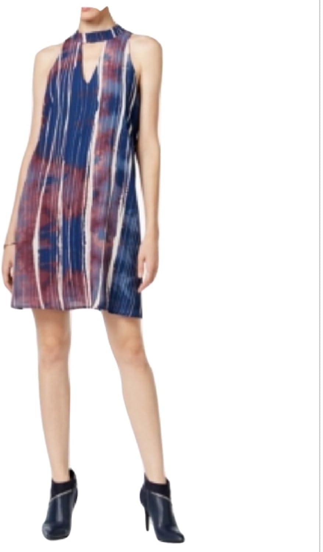 Bar III Womens Printed Cutout Casual Dress