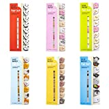 6 Sheets Cute Animal Page Flags, Funny Sticky Notes, Self Stick Notes,Cute Index Tabs for Animal Lovers, Sticky Page Markers for Office and School Use (A)