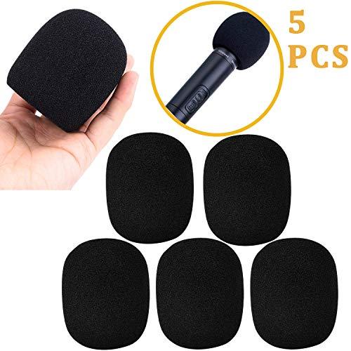 5 Stück Mic Mikrofon Windschutz aus Schwamm Sponge, Große Schaum Mic Windschutz für MXL, Audio Technica und andere große Mikrofone (Schwarz)