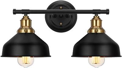 YeLEEiNO Wall Sconce Lamp 2-Light Wall Lamp Vanity Light Hardwire E26 Base for Lobby, Dining Room, Restaurant,Hallway, Kitchen, Batchroom