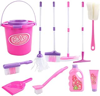 10 PCS Lovely Children Clean Toys Simulation Garbage Truck Cleaning Tool Set
