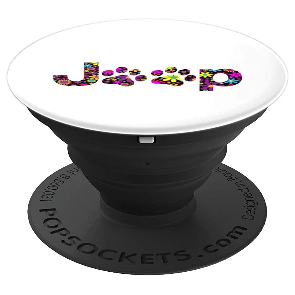 Jeep Paw Dog Flower Lover For Girl Women Men Gift - PopSockets Grip and Stand for Phones and Tablets