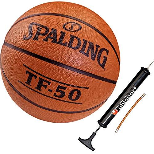 Spalding Basketball für Kinder Outdoor Ball Größe 5 + Ballpumpe