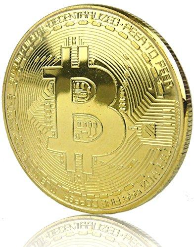 LZWIN Rexul - 1 Moneta Bitcoin, placcata in Oro, Collezione Fisica di Monete Bitcoin