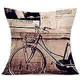 Royalours Kissenbezug, Retro-Design, Vintage, schwarzes