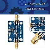 Acogedor Module de Carte LNA pour amplificateur Faible Bruit, amplificateur RF Large Bande 0,1-2000 MHz, Gain de 30 DB, pour Ondes Courtes, Radio FM, récepteur de télécommande