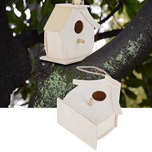 Jaula para pájaros, a Prueba de Humedad 2.8x1.6x2.8in Durable 4 Piezas Casa de pájaros de Textura Suave Mini para Golondrinas para pájaros para Loros