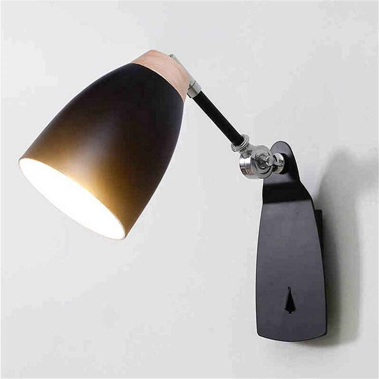 Kronleuchter Wandleuchte E27 1-Light Eisen Wandleuchte Laterne für Wohnzimmer Schlafzimmer Gang Wand Beleuchtung Lesen (mit Schalter) (Farbe  schwarz)