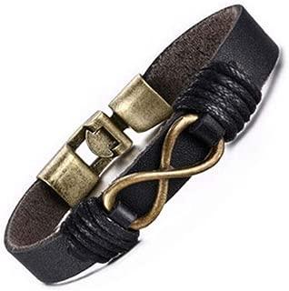 Infinite Memories Infinity Music Note Leather Wristband Wrap Bracelets Gifts for Music Lovers Rocker Musician Hippie Men Women