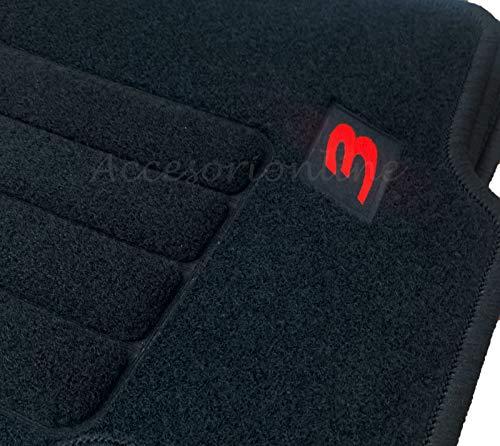 Accesorionline Alfombrillas para Mazda 3 I 2003-2009 Todos los Modelos - Juego Completo mazda3 - alfombras a Medida - esterillas Anclajes Originales