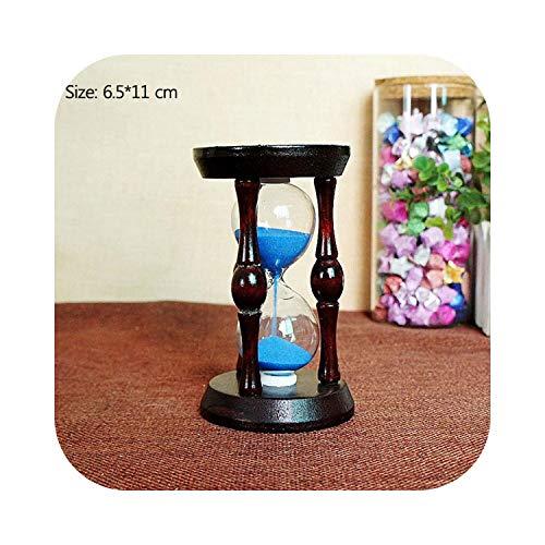 Reloj de arena creativo retro de madera de caoba para decoración de...