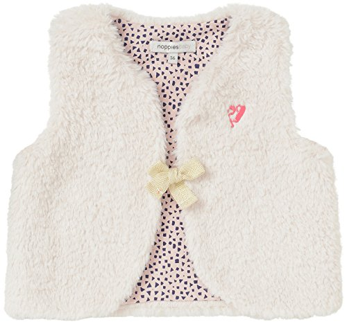 Noppies Noppies Baby-Mädchen G Waistcoat Hartford Weste, Weiß (Dove C012), 56