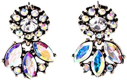 Stijlvol eenvoud sieraad Exquise vintage kristal kroonluchter oorbel design oorring, DZ