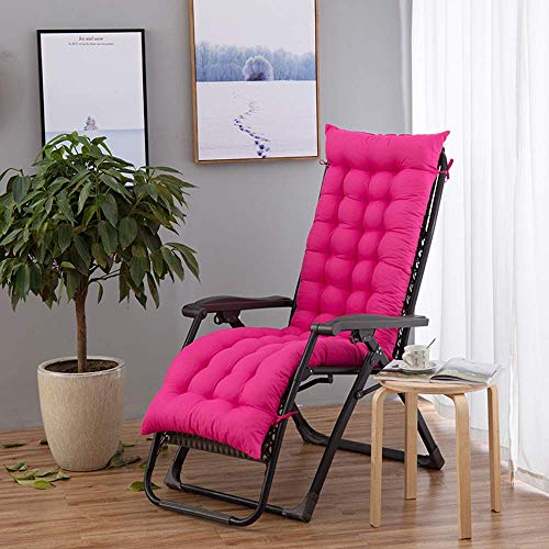 CHHD Coussin inclinable Confortable à gravité zéro, Coussins de Chaise Longue Pliante d'extérieur pour Jardin, Patio, Piscine, Support, C, 120 * 50 * 8CM (Pas de chaises)