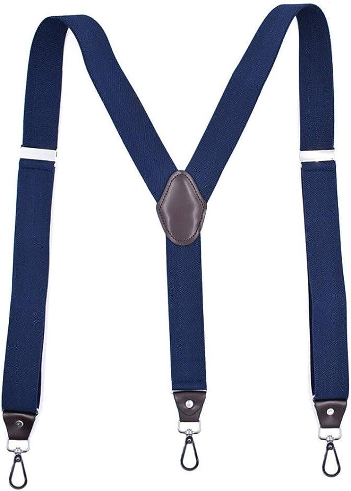 Suit Pants Straps,Hook Buckle Fashion Suspenders Stretchy Wide Elastic Men Pliers Women Braces Dropship
