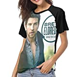 TrinityL Womens Brett Eldredge Bring You Back Baseball Raglan Short Sleeve T Shirt Black S