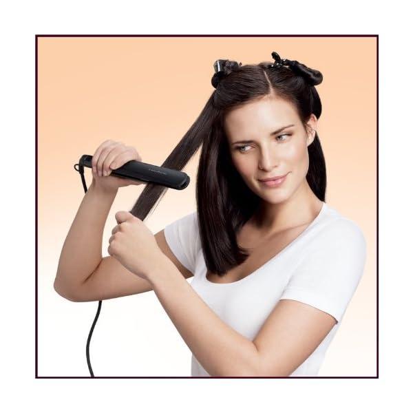 Philips EssentialCare HP8321/00 – Plancha de pelo con placas de cerámica,