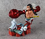 SZSOZD Anime One Piece Battle Scene GK Luffy VS Mingo Showdown Figura Modelo Juguetes 19cm-Luffy sin...