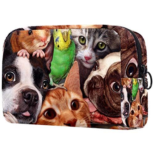 ATOMO Neceser de maquillaje de moda, neceser grande, organizador de maquillaje para mujeres, perros, gatos, periquitos, ratas