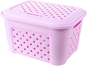 Clothes Bin Dirty Clothes Dirty Laundry Hamper Large - Rattan with Lid Home Storage Storage Box - Two Loaded ZHANGQIANG (C...
