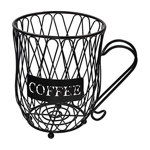Coffee Pod Holder Stockage Rack et Organisateur Mug – Fruit Basket, Mug Shape Coffee Pod Holders, grande capacité Storage Organiseur pour Counter For Home Kitchen Office et Coffee Bar (B)
