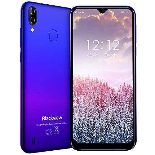 Blackview A60 Pro Smartphone ohne Vertrag Günstig 4G - 6,1 Zoll 3GB + 16GB, 256GB erweiterbar 4080mAh Akku, 8MP+5MP Kamera Dual SIM Handy - Mist blau