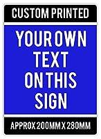 Custom Safety Sign 注意看板メタル安全標識注意マー表示パネル金属板のブリキ看板情報サイントイレ公共場所駐車ペット誕生日新年クリスマスパーティーギフト