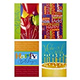 Hallmark Assorted Birthday Greeting Cards (Bright Icons, 12 Cards and Envelopes)...