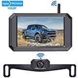 LeeKooLuu 1080P Wireless Backup Camera 5'' Display Digital Signals 2020 New Chips for Trucks,Small RVs,Camper,Car IP69 Waterproof Driving Hitch Rear/Front View Observation Super Night Vision-F09