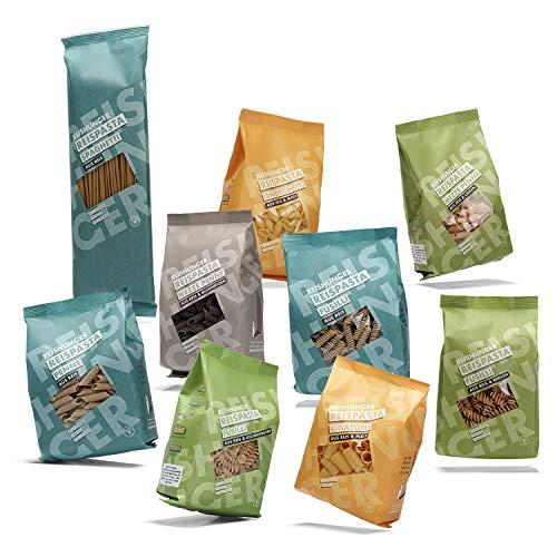 Reishunger Reispasta 9er Set - Glutenfreie Nudeln aus Reis, Mais, Linse, Erbse, Buchweizen oder Kichererbsen (5x400g, 4x240g)