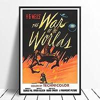 世界の戦争ヴィンテージクラシック映画ポスター壁アート画像キャンバスポスターとプリントHDプリント油絵壁画リビングルーム家の装飾フレームレス