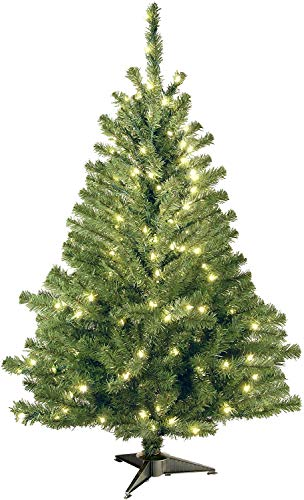 National Tree Company Pre-lit Artificial Christmas Tree   Includes Pre-strung White Lights   Kincaid Spruce - 4 ft