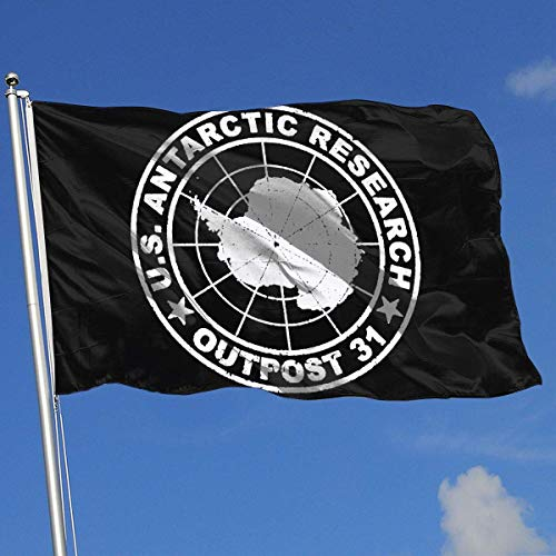 Gsixgoods Flagge Outpost 31 Antarctica Research 3x5 Foot Flag Outdoor Flag 100% Single-Layer Translucent Polyester 3x5 Ft