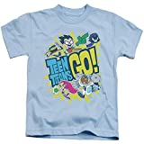 Teen Titans Go Go Little Boys Shirt Light Blue Sm 4