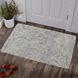 Lahome Damask Area Rug - 2' X 3' Non-Slip Area Rug Small Accent Distressed Throw Rugs Floor Carpet for Door Mat Entryway Bedrooms Laundry Room Decor (2' x 3', Gray)