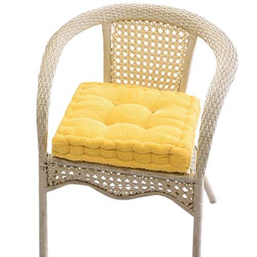 Bigood Hem kök kontor mjuk manchester fyrkantig ryggkudde matstol sits kudde fåtölj skydd dekor gul 40 x 40 cm