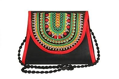 Streetkart Women's & Girl's Traditional Kutchi Art Work Sling Bag/Fashionable Sling Bag for Women/Stylish Polyester Sling Bag for Casual & Formal Wear
