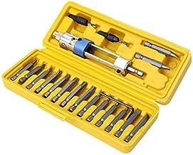 ZHTY 20pcs/Set Cabezal Giratorio de Destornillador Multifuncional de Medio Tiempo Cambio rápido de Kits de Herramientas de reparación de perforación a conducción con portátil
