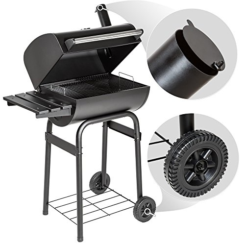 TecTake BBQ Charcoal barbecue smoker with heat indicator – different models – (Smoker model 2 (small 401172))