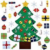 COOFIT Filz Weihnachtsbaum,Weihnachten Deko 3.2ft DIY Filz Weihnachtsbaum Set mit 28 Pcs Deko Weihnachten Weihnachtsspiel Kinder Spielzeug - 5
