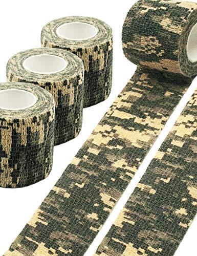 Outdoor Saxx® - 3X Camouflage Tarn-Tape Hunting, Jagd, Gewebe-Band, Tarnung wasserfest mehrfach verwendbar, Kamera, Ausrüstung, Jäger, Angler, Fotografen, 3X 4.5m, 3er Set