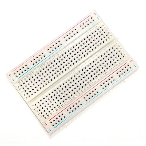 Doradus 10pcs 8.5 x 5.5 Cm weiße 400 Löcher lötfreies Brotschneidebrett für arduino